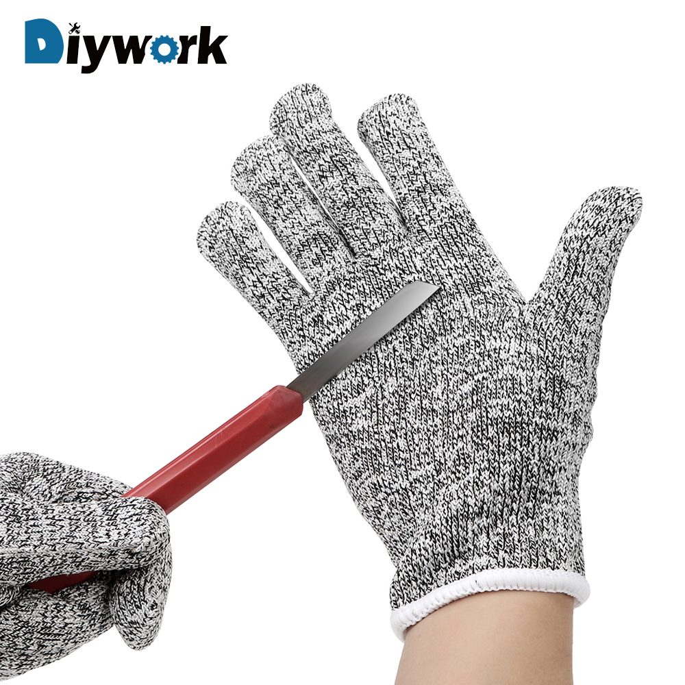 DIYWORK Cut Protection Gloves Anti-glass Scratch Wear-resistant Family Necessities Protective Gloves High Performance HPPE