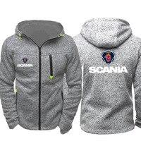 2019 scania Cars Logo Print For Men Zipper Cardigan Jacket Hoody Man Harajuku Sweatshirts Hip Hop Slim Coats Clothes