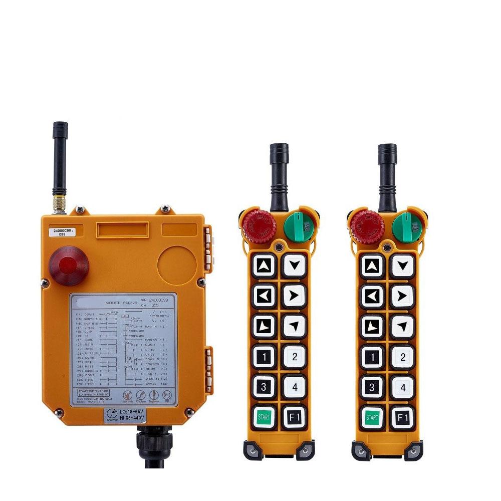 F24 12S controlador remoto Industrial elevador grúa 2 transmisores + 1 receptor 380 V 220 V 36 V 24 V 48 V