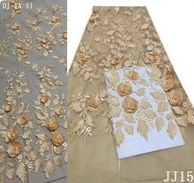Bridal Net Lace Graceful 2018 African Fabric High Quality 3D Nigerian Fabrics For Wedding Dress