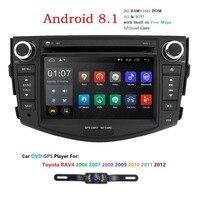 7 2 din Android 8,1 автомобильный dvd автомобильный радиоприемник проигрыватель для Toyota RAV4 для Toyota Previa Rav 4 2007 2008 2009 2010 2011 Мультимедиа авто gps навигаци