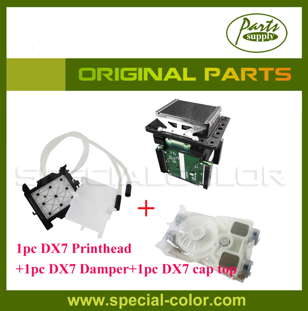 100% Original Roland VS640/540/XF640/RA/RE640 Parts DX7 Solvent Printhead+DX7 Solvent cap Station+Original DX7 damper dx4 printhead capping station for roland sp 540 vp 540 sj 1000 sj 1045 xj 740 printer cap top