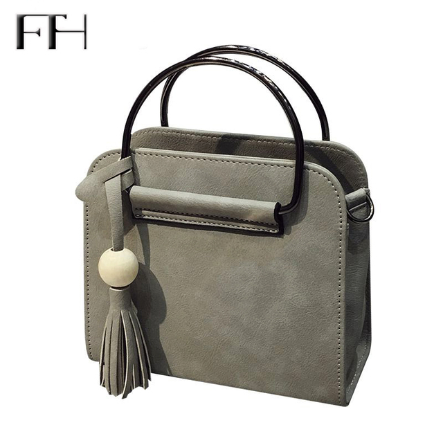 ff5ff548071c Brief design for women casual shoulder handbags with tassel pendant ladies  small flap messenger bags female