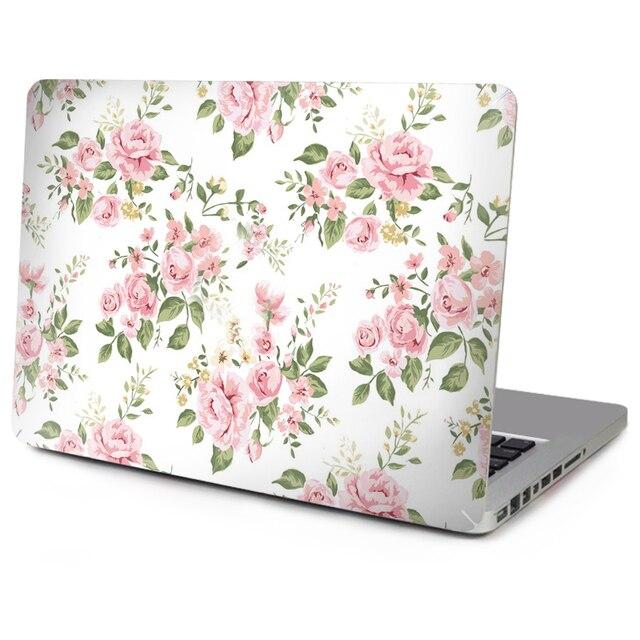 Горячие Продажи Топ Этикеты Винила Ноутбука Мраморные Текстуры Стикер Цветочные Кожи для Macbook Air Pro Retina Новый Mac с Apple Logo Cut Out