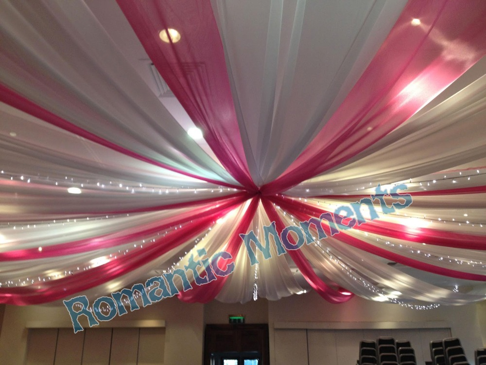 18 Pieces Banquet Mediterranean Style Ceiling Drape Canopy