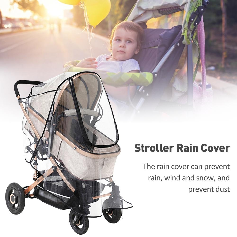 Baby Stroller Rain Cover Four Seasons Universal Baby Car Rain Cover Baby Carriage Transparent Rain Coat Windshield
