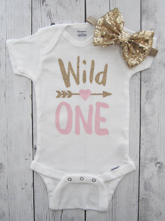 Customize Wild One first birthday infant bodysuit onepiece Tutu Dress  romper Outfit Set baby shower party 5ca61f71c385
