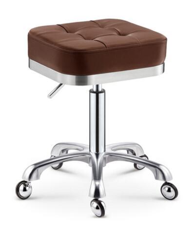 Купить с кэшбэком Beauty chair rotary lifting stool explosion-proof stool barber chair work bench hairdressing salon rotary stool round pulley mas