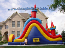 most popular PVC inflatable dry slide colorful inflatable slide in amusement park for entertainment