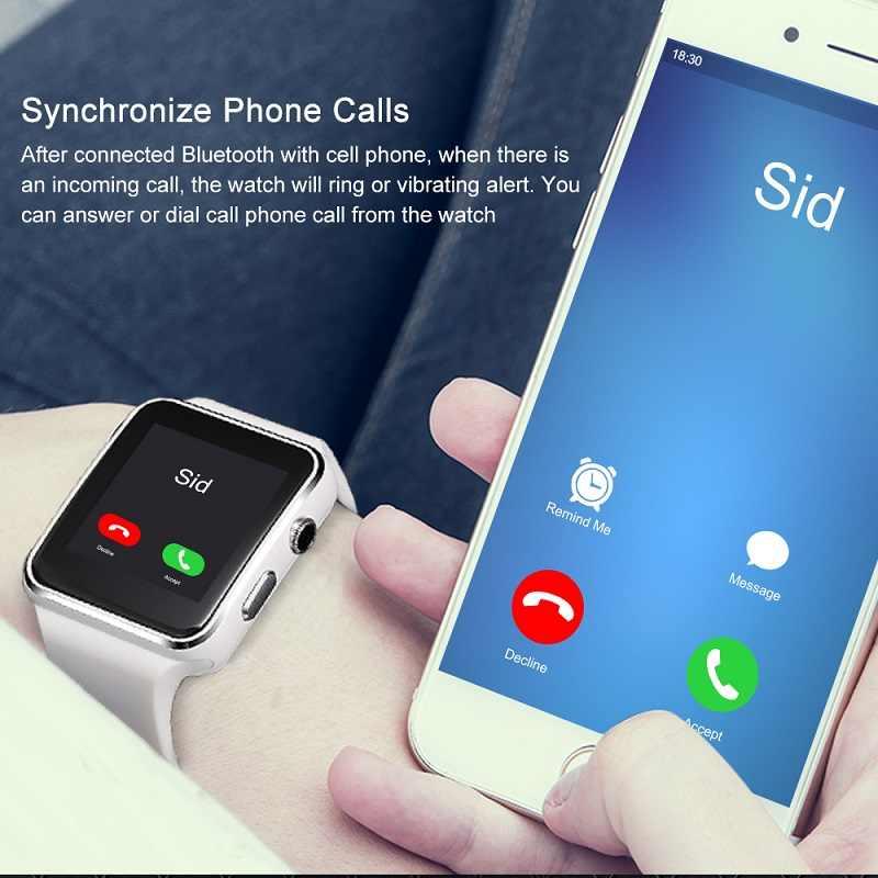 Новое поступление X6 Смарт-часы с камерой сенсорный экран Поддержка SIM TF карта Bluetooth умные часы