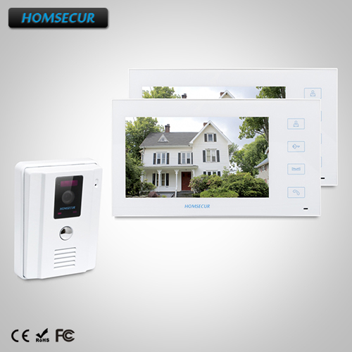 HOMSECUR 7 Wired Video Door Entry Phone Call System with IR Night Vision : TC011-W  + TM704-WHOMSECUR 7 Wired Video Door Entry Phone Call System with IR Night Vision : TC011-W  + TM704-W