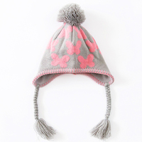 Toddler Walking Helmet Baby Girl Winter Cute Infant Hats Sleep Newborn Knit Bonnet Baby Cocoon Crochet Outfits 60C239