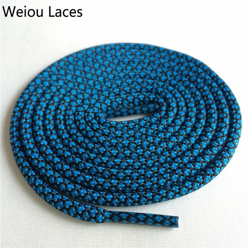 Weiou новые яркие цвета для пеших прогулок, двухцветные шнурки, сменные шнурки для обуви, круглые шнурки для баскетбола 750 - Цвет: 22Blue Black