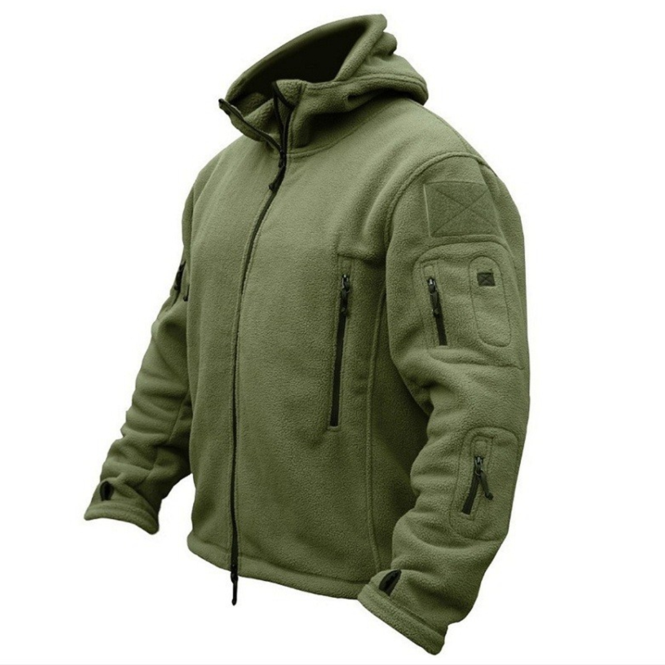 Fleece Tactical Jacket Coat Hooded Softshell Military Hiking Outdoors Sports Winter US