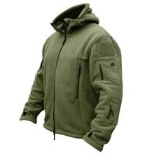 Мужская военная зимняя теплая флисовая тактическая куртка для улицы, спортивная куртка с капюшоном, милитари софтшелл, походная армейская куртка