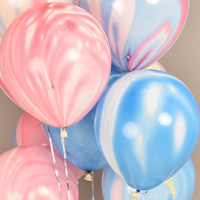 200pcs Marble Balloons Colorful Blue/Pink/Green/Black/Yellow Party Pack of 10 balloons Cool Agate Decor