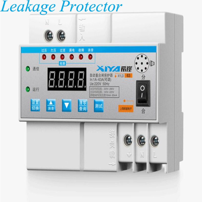 Leakage Protector Automatic Reclosing Limit Current Lightning Protection Switch Photovoltaic Breaker XYLD63Leakage Protector Automatic Reclosing Limit Current Lightning Protection Switch Photovoltaic Breaker XYLD63