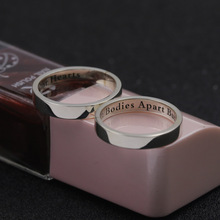 Wholesale Engraved Two Names Solid Silver Engagement Rings Customized Any words can be tampedd Silver Ring Personalized