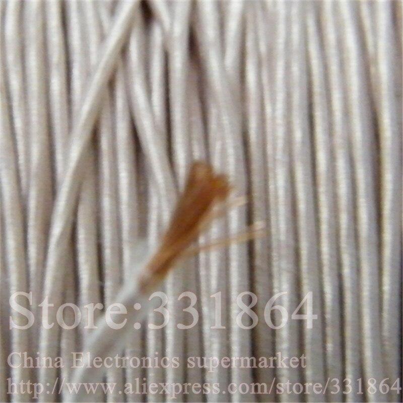цена на 0.6mm,0.07x28 strands,(50m /pc) Mine antenna Litz wire,Multi-strand polyester silk envelope braided multi-strand wire