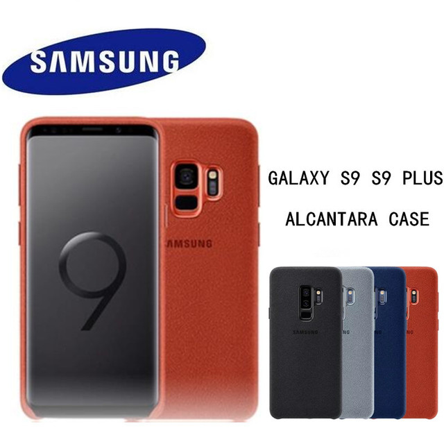 big sale af65e a6f46 US $14.63 39% OFF|100% NEW Original Genuine Samsung Galaxy S9 S9 plus S9+  ALCANTARA cover leather luxury premium case EF XG960 EF XG965-in Fitted ...