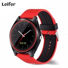 Leiefer Bluetooth Smart часы V9 DZ09 с Камера SmartWatch Шагомер здоровья спортивные часы Для мужчин Для женщин SmartWatch для Android