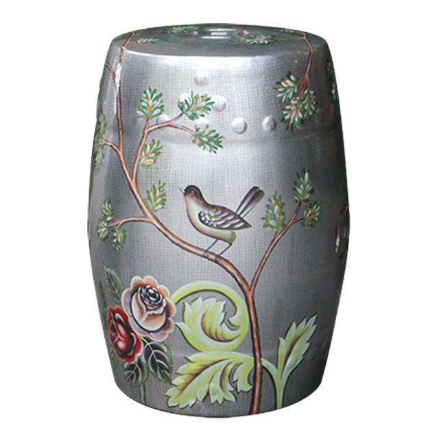 Fashion chinese style decoration flower and bird design ceramic
