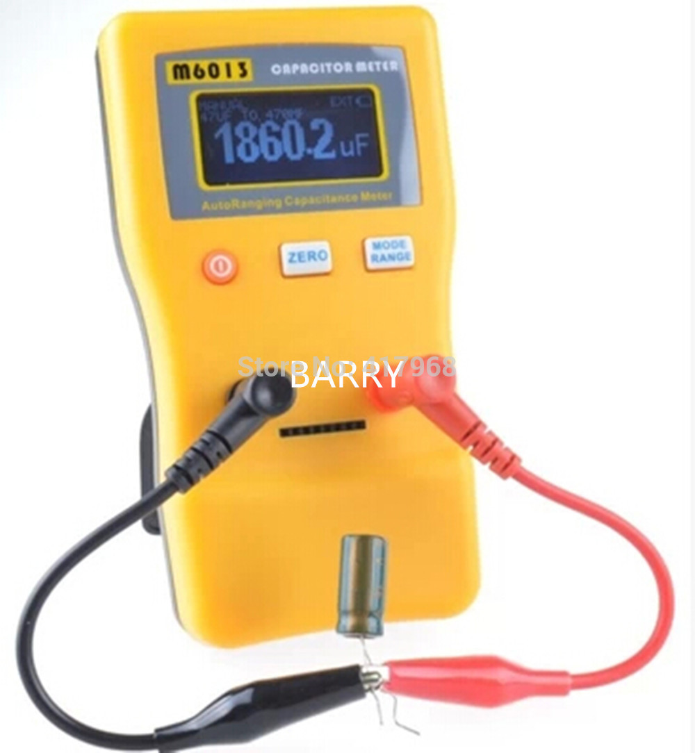 M6013 LCD High Precision Capacitor Meter Professional Measuring Capacitance High Resolution Resistance Capacitor Tester new original copper high current 6000vac 0 06uf high frequency resonant capacitor 80k 80a