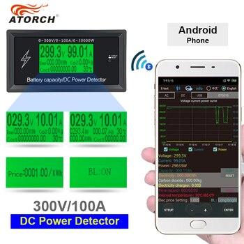 ATORCH DC 300V 100A dokładne oferty, energii Bluetooth miernik napięcia prądu zasilania woltomierz amperomierz funkcja alarmu przeciążenia kryty