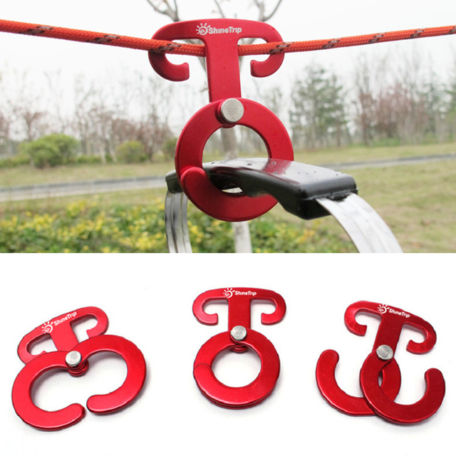 2pcs Camping Tent Rope Buckle Ultralight Outdoor Quick Hang Wind Rope Hanger Buckle Quickdraw Tent Accessories