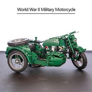 Image 5 - CaDA 원격 제어 오토바이 무기 군사 Seires 모델 빌딩 블록 기술 어린이 장난감 원래 상자와 어린이 선물