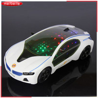 20 9 5cm Newest 3D Flashing Electric Car Toy With Lights And Sound Goes Around And