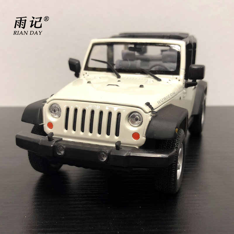 RIAN DAY 1/24 Scale Car Model Toys USA 2007 Jeep Wrangler SUV Diecast Metal Car Toy For Gift/Collection/Decoration/Kids
