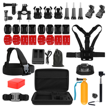 SHOOT for Gopro Hero 4 Accessories Set Cycling Clamp Holder Strap Mount with Sticker Monopod Camera Case Go Pro Kits