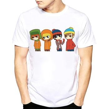 Cartoon Sitcoms South Park T-shirt Men and Women Slim Fit Short Sleeve TShirts T Shirt Men Luxury Plus Size Tee Shirt s-xxxl