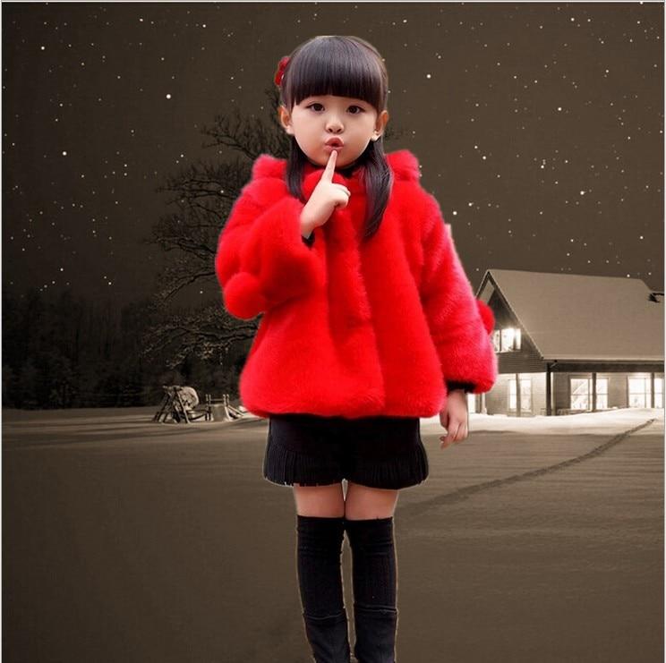 ФОТО Girls winter coat Children's clothing fur coat down jacket for girls winter jackets for girls coat of artificial fur 30#