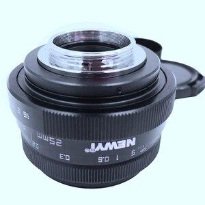 Image 3 - Newyi Mini 25Mm F1.8 aps c televizyon Tv Lens/Cctv Lens 16Mm C montaj kamera