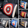 GSPSCN  Car lumbar cushion back support space memory foam car seat cover Cartoon hero Heavy cotton +memory foam +Natural fibers