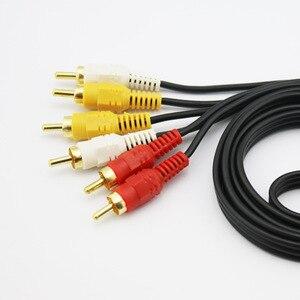Image 4 - 3RCA זכר 3 RCA זכר Composite אודיו וידאו AV כבל תקע 3X RCA הקמעונאי & סיטונאי 1.5M 3M 5M 10M 15M 20M