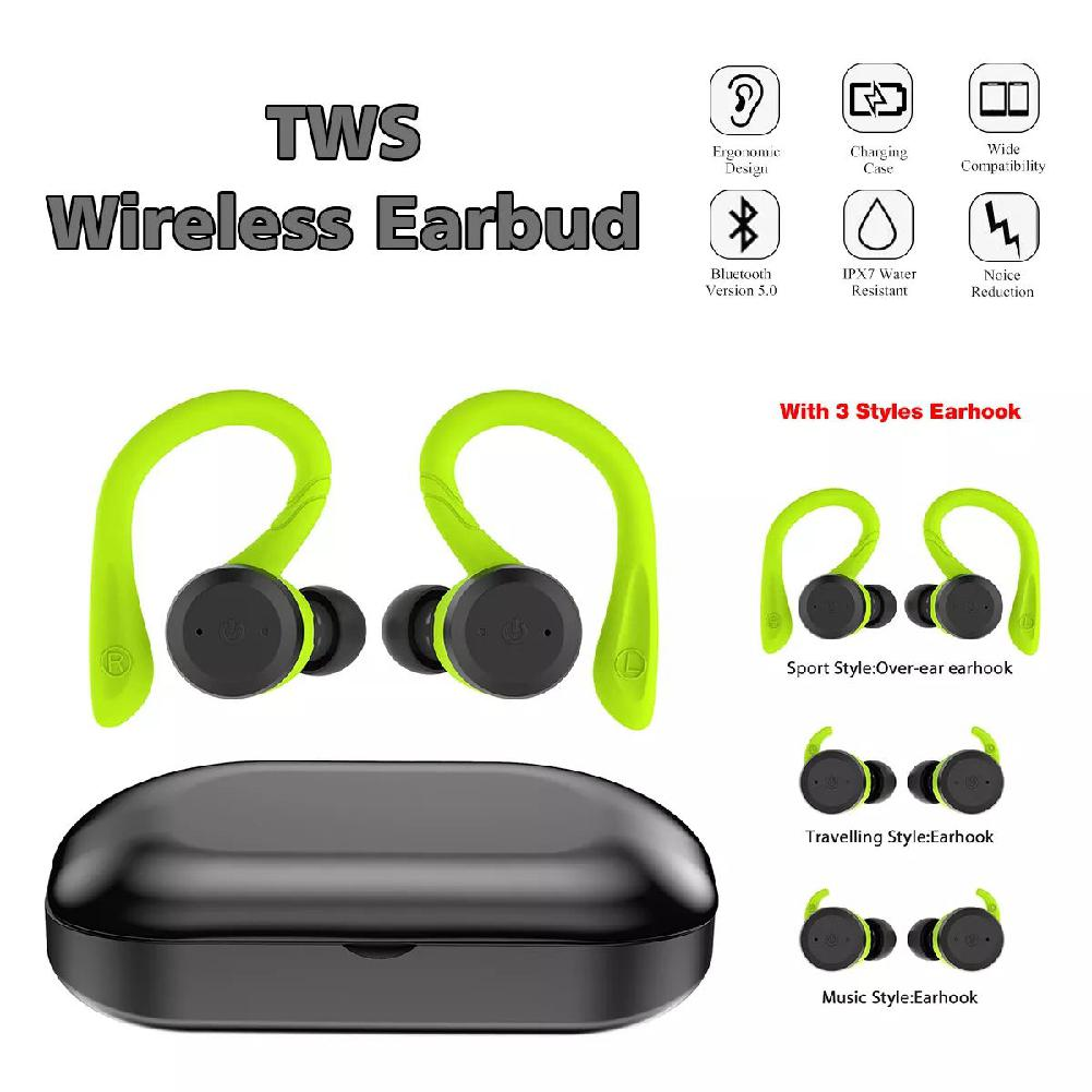Kuulee 2019 New Mini Wireless Headphones Stereo Waterproof Bluetooth Headphones Noise Cancelling with Charging Case