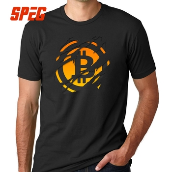 Bitcoin Ripped T Shirts Natural Cotton Short Sleeve