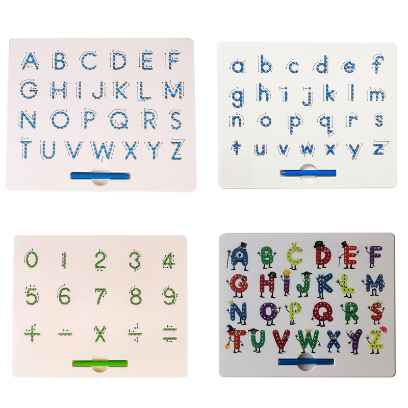 Children Magnetic Drawing Board Baby Toddler Kids Doodle Drawing Pad Tablet Toys Alphabet Number Educational Writing Gift