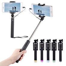 Роскошная Проводная селфи-палка, выдвижной ручной монопод, складной держатель для автопортрета для IPhone 5, 5C, 5S 6, 6S, 7 Plus, селфи-палка
