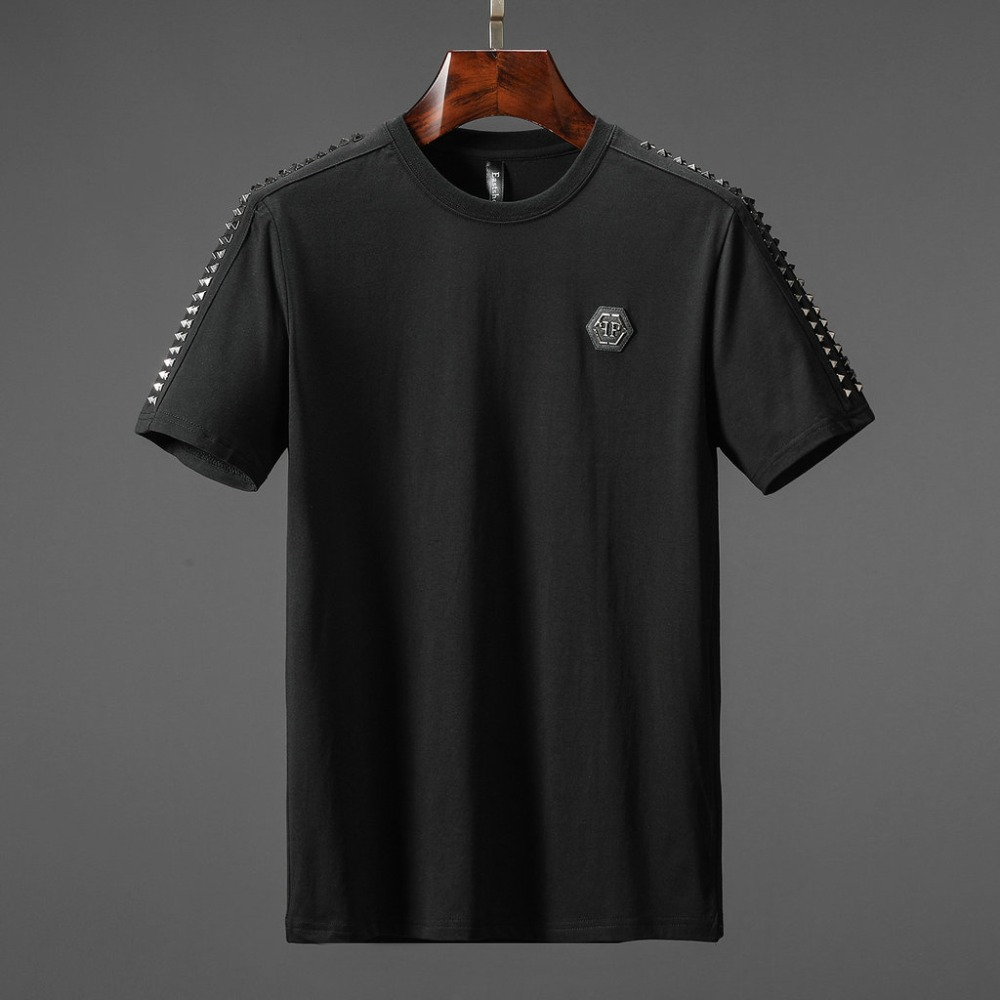 Mens Short-Sleeve Crew Neck Cotton Stretch T-Shirt Big Apple wear Design p Medium Blue6X-Large