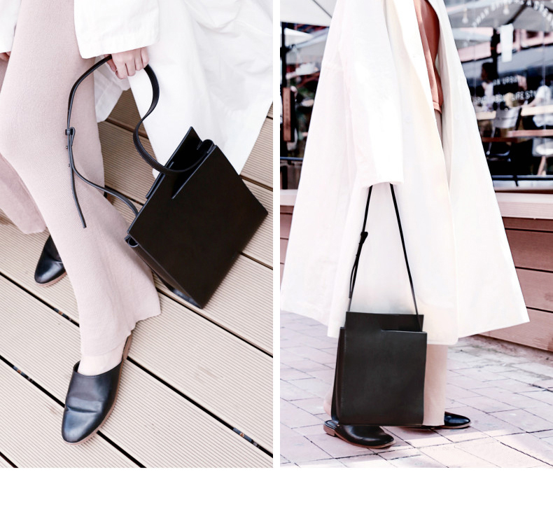 2018 New Women Tote Simple Fashion Female Sling Bag Genuine Leather (17)