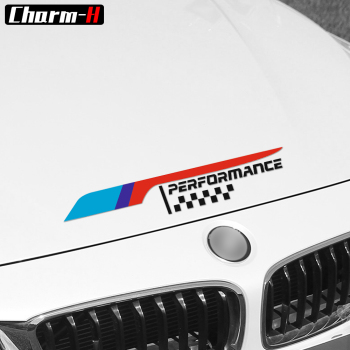 2018 New M Performance Car Bonnet Hood Engine Decal Sticker for BMW e46 e60 e90 f30 f15 f10 x5 f20 e70 e53 e30 e36 e34 f16 image