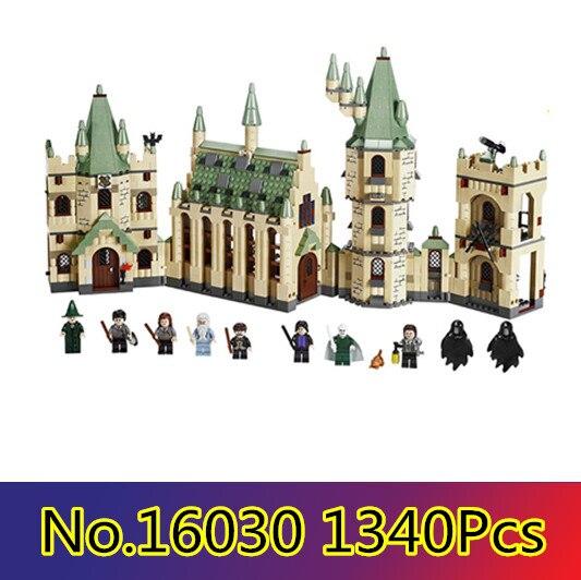 16030 Замок Хогвартс 1340 шт. Творческий фильмы Building Block кирпичи совместимые с LEGO 4842 figur Развивающие игрушки для детей