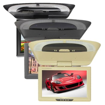 9 inches TFT LCD Flip Down Monitor Car Roof Mounted Monitor dual video input Monitor Auto Ceiling Monitor Overhead Monitor 981-2 фото