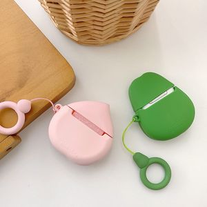 Image 2 - Case For AirPods Cute Cartoon Earphone Cases For Apple Airpods2 Accessories Protect Cover With Finger Ring Strap unique Fruit 3D