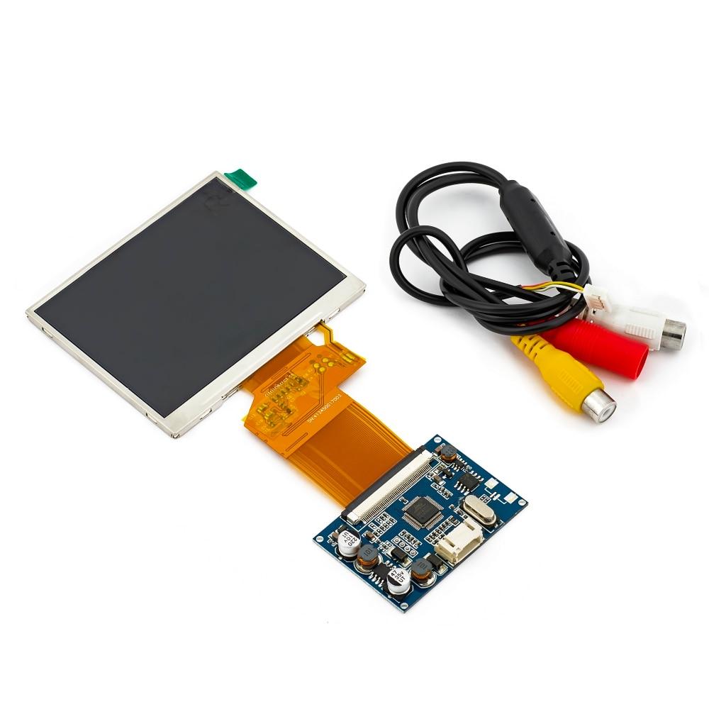 ЖК-дисплей TFT 3,5 дюйма с RGB-модулем, многофункциональный комплект для стайлинга автомобилей с разрешением 320x240, цифровым фото, 4,3