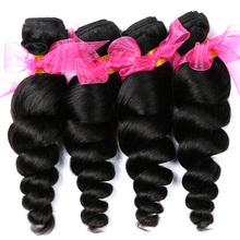 Alishes Brazilian Loose Wave Hair Bundles Real 100% Human Hair Extensions 8-28 inch Non-Remy Hair Weave Free Shipping(China)